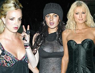 Britney Spears, Lindsay Lohan e Paris Hilton